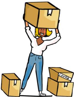 Gros bras : descendre un meuble, aider pour un déménagement