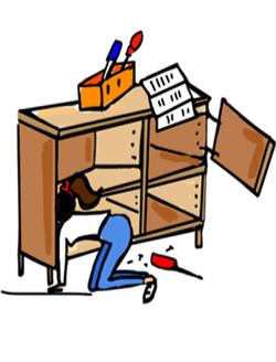 Montage de meuble : monter une table basse, installer un dressing…